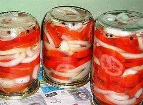 закуска из помидоров с луком к шашлыку