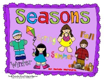 Four seasons poster set- Winter, spring, summer, & fall. *6 pages- Includes cover page and credits page. Be sure to visit my blog and Facebook page for Freebies & More!Krazee4Kindergarten BlogKrazee4Kindergarten Facebook Page