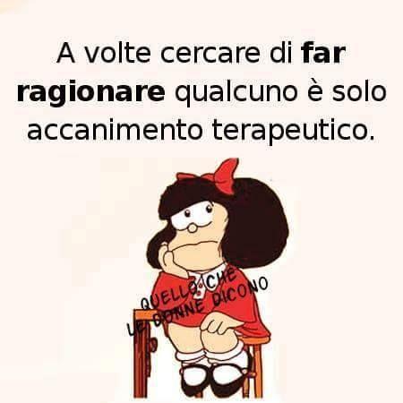 Vignetta mafalda Far ragionare