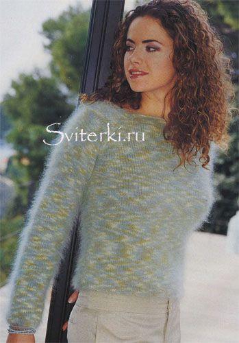 вязаные свитера спицами из ангоры