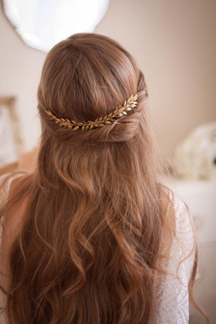 Bridal hair piece comb-2161