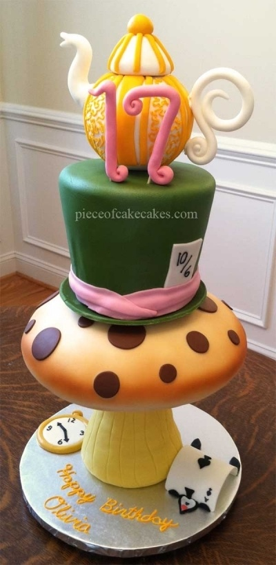 Alice cake By dukebrees on CakeCentral.com.  so amazing, check out the bottom!