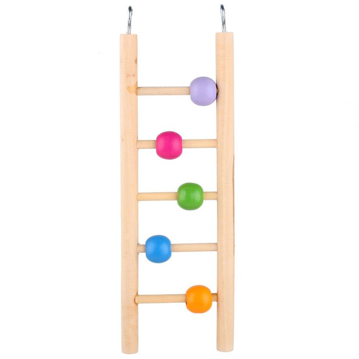 awesome Pet Bird Wood Ladder Climb Toys Parrot Macaw Cage Swing Shelf Parrot Bites Play