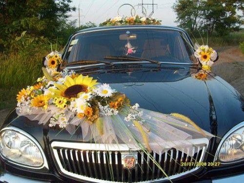 Свадебное фото Оформление свадебного кортежа и зала