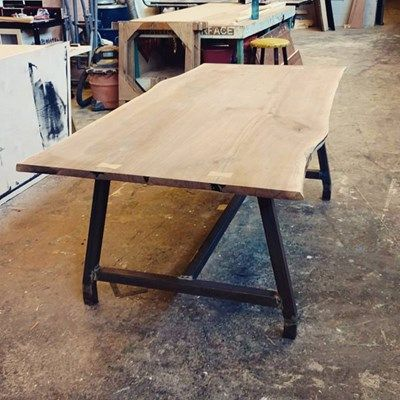 Projects Idea Of Steampunk Dining Table. Live edge walnut dining table  Welding IdeasWelding ProjectsWelding Tools 115 best projects images on Pinterest