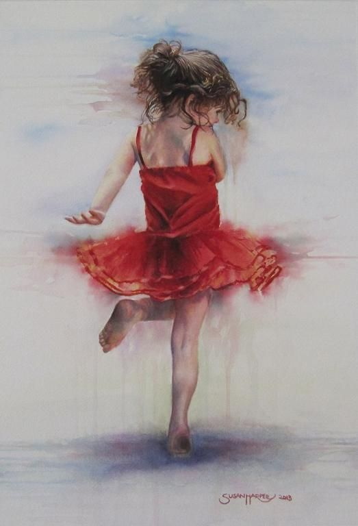 My Favorite Sketch, so far!  Too Sweet, gives me a happy feeling just looking at her dance~By: Susan Harper~❥