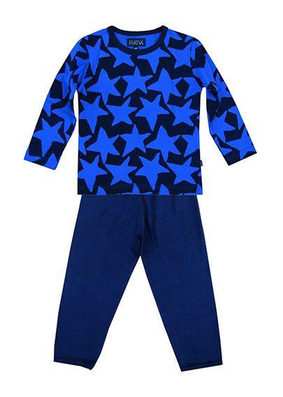 Lasten pyjama, sin/ t. sininen - Ratiashop