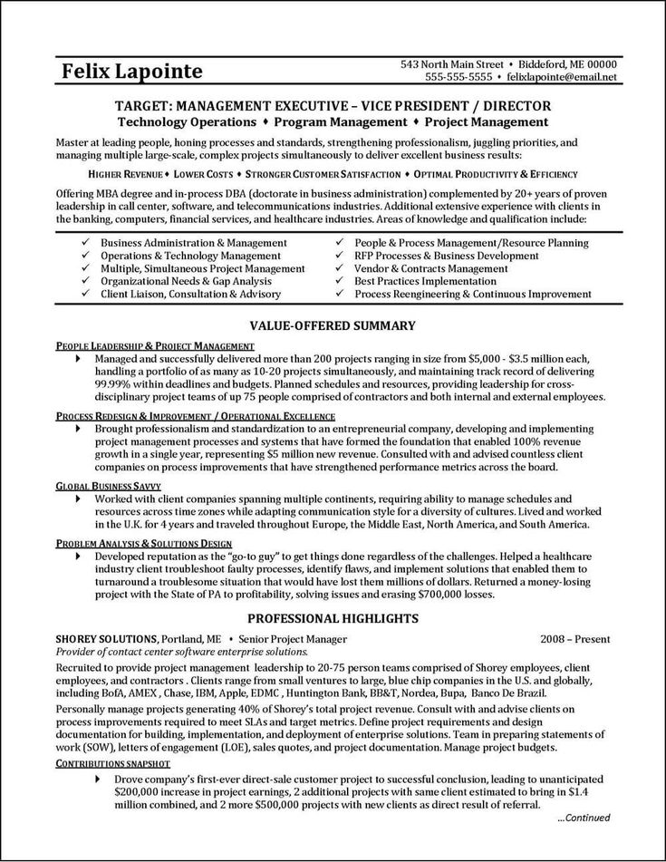 Example program manager resume good resume examples