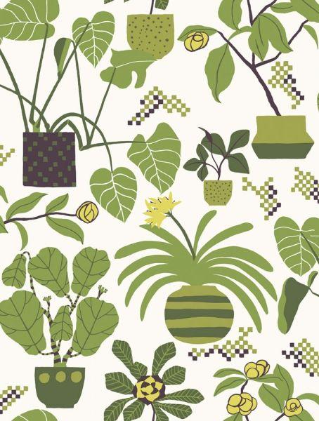 Fint blommönster med retrokänsla från Marimekko 4 17931. Klicka för att se fler inspirerande tapeter för ditt hem!