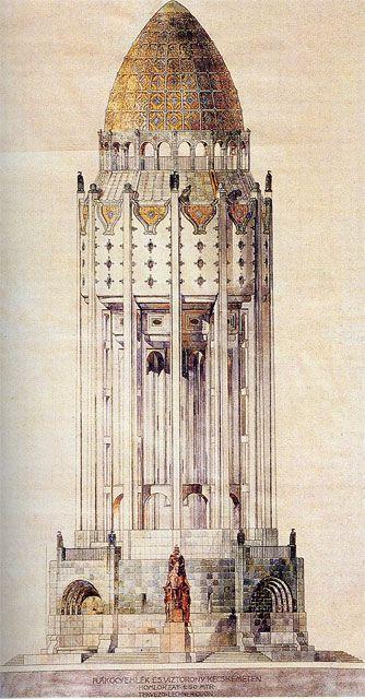 vertigo1871:  Ödön Lechner, 1914                                                                                                                                                                                 Más