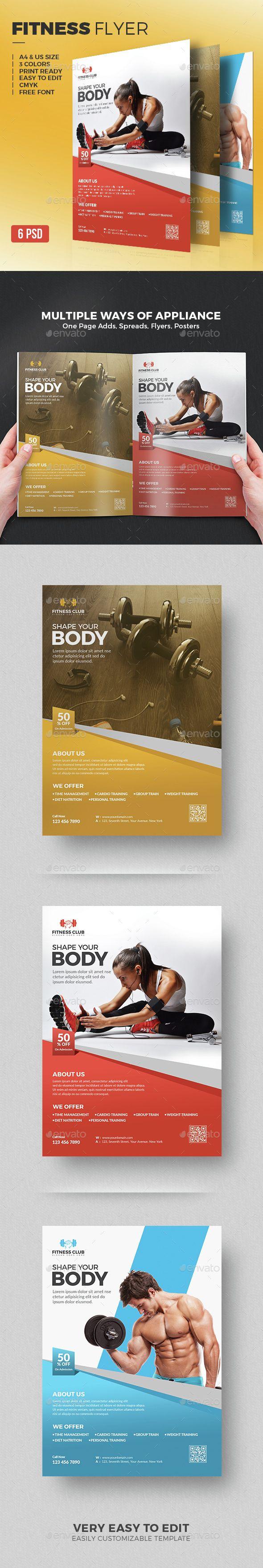 Fitness Flyer Template PSD. Download here: http://graphicriver.net/item/fitness-flyer/15360255?ref=ksioks