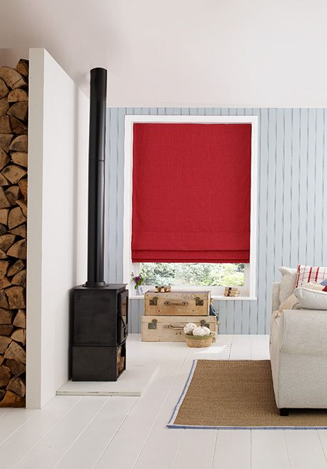 Adding a splash of colour to your interior with our quality Roman blinds.