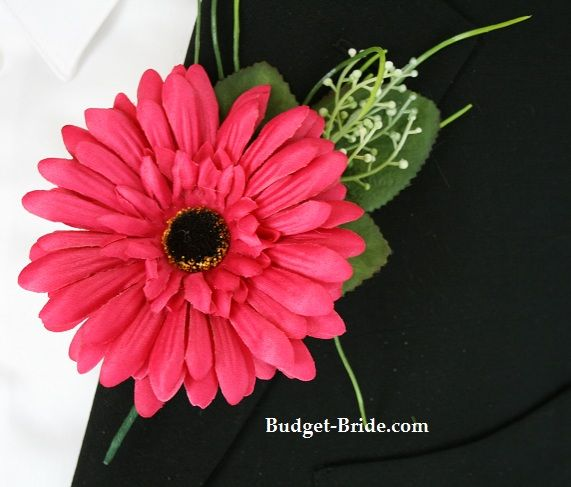 gerber daisy corsages   Azalea Gerbera Daisy Boutonniere