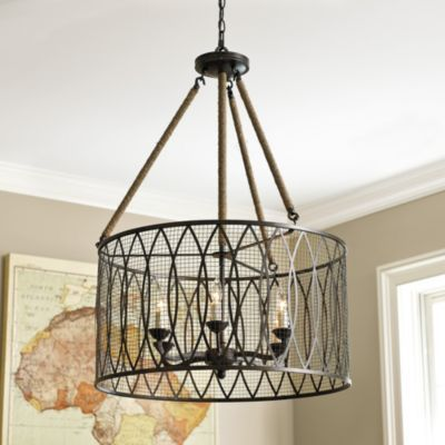 Denley 6 Light Pendant Chandelier   Ballard Designs...where oh where is a knock off when you want one?!