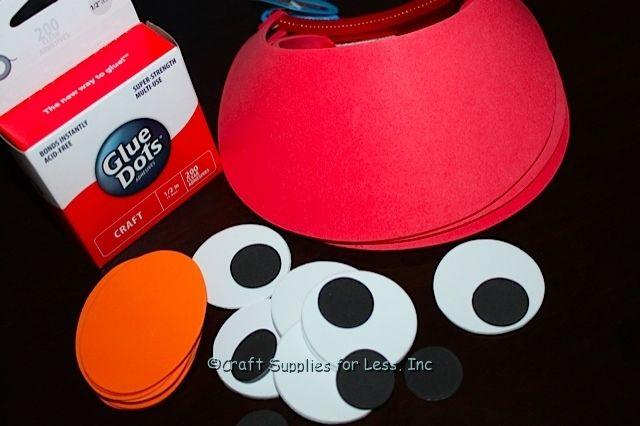 elmo party ideas | red-visor-elmo-party-supplies | Craft Supplies for Less