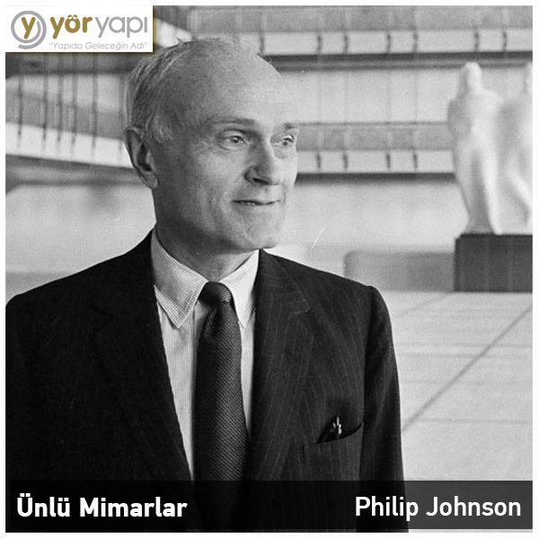 #ÜnlüMimarlar | Dünyanın en iyi 10 mimarı arasında bulunan Philip Johnson New York Modern Sanatlar Müzesi'nde Mimari ve Tasarım Departmanının kurucusudur.