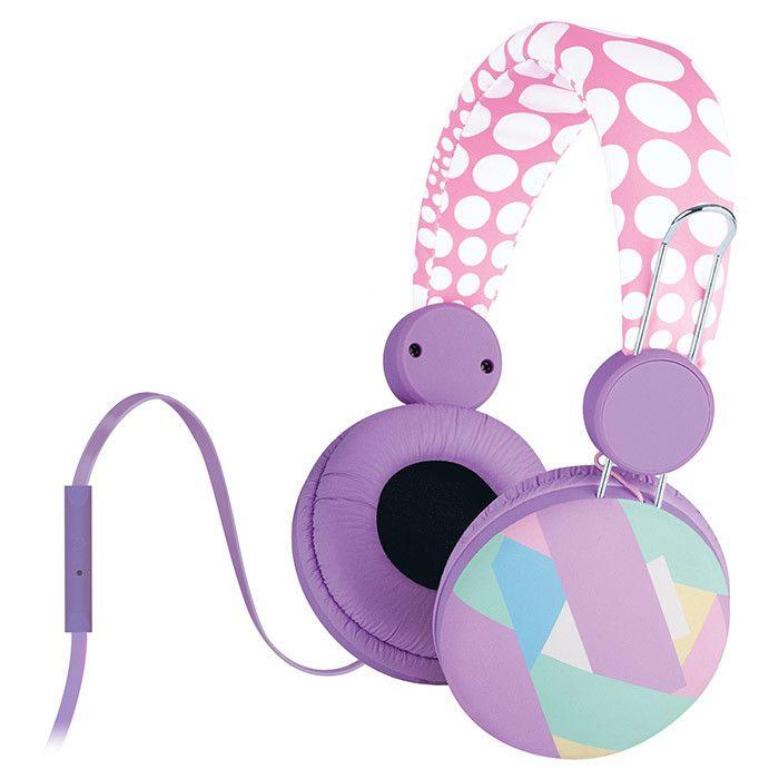 Polka Dot Headphones with Microphone