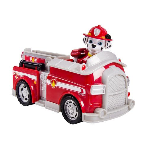 Paw Patrol Vehicle and Pup - Marshall's Fightin' Fire Truck
