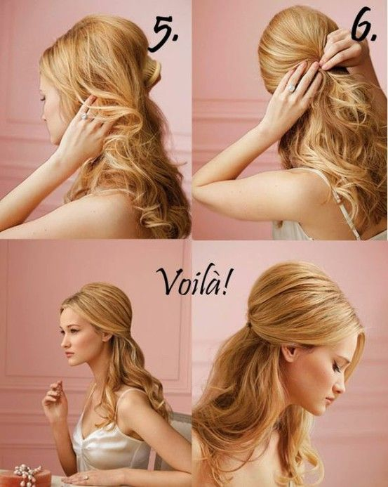 "i've been doing this trick with ponytails to get more of a ""bump"" in the back"