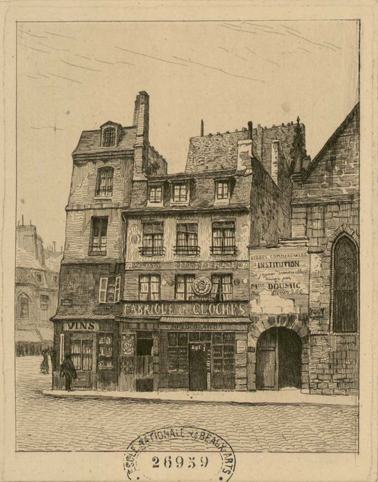 Rue S.t Martin n° 20 et 22 à l'angle du carré S.t Martin. 1865