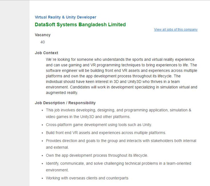 Más de 25 ideas increíbles sobre Unity developer en Pinterest - programmer job description