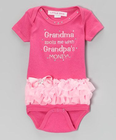 Take a look at this Hot Pink 'Grandma Spoils' Bodysuit - Infant by Little Diva on #zulily today!