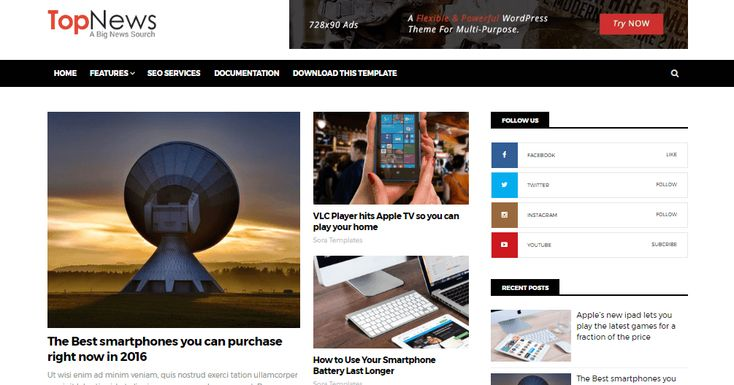A Complete And Detailed Documentation To Install Top News Blogger Template Without Any Hassle.