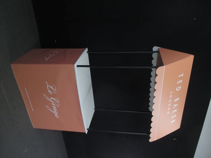 Ted Baker Demo Table and Canopy  - portable lightweight folding table for outdoor events and shopping malls. www.displays2go.com.au