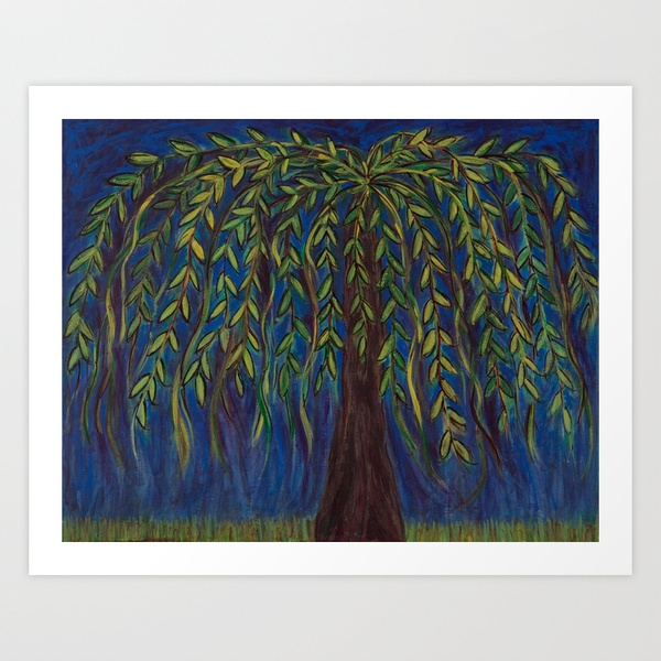Willow Tree Art Print By Kristen Fagan | Society6   Free Worldwide Shipping  On My Products