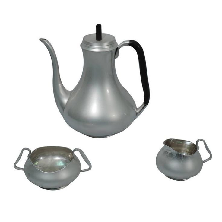 Midcentury Coffee Set - Scandinavian Modern - Danish Sterling Silver | From a unique collection of vintage coffee and tea sets at https://www.1stdibs.com/jewelry/silver-flatware-silverplate/coffee-tea-sets/