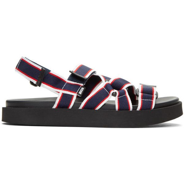 MSGM Tricolor Multi Strap Wrap Sandals (2,815 CNY) ❤ liked on Polyvore featuring men's fashion, men's shoes, men's sandals, tricolor, mens velcro shoes, mens velcro strap shoes, mens velcro sandals and colorful mens shoes