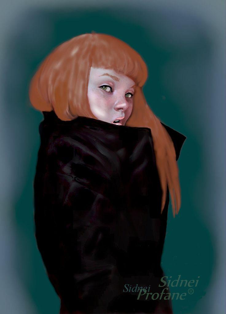 disegno ricostruito la ragazza dai capelli rossi