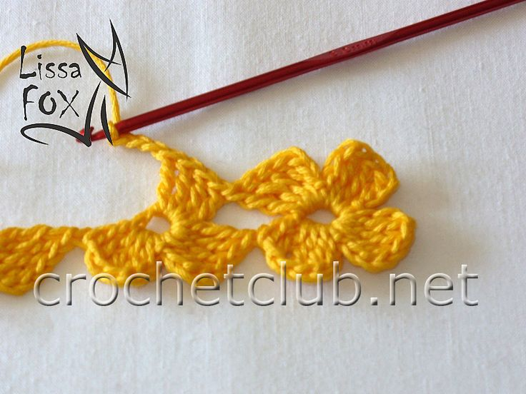 Crochet flower stitch tutorial