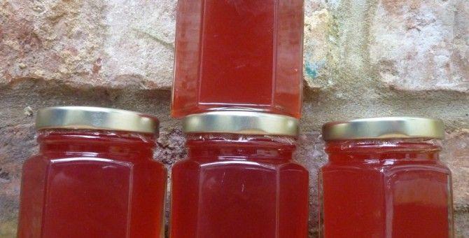 Hot apple jelly