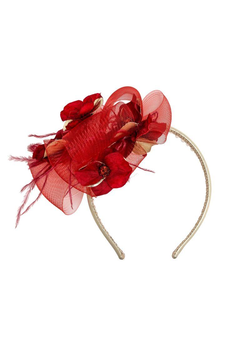 Headband with hydrangeas and feathers