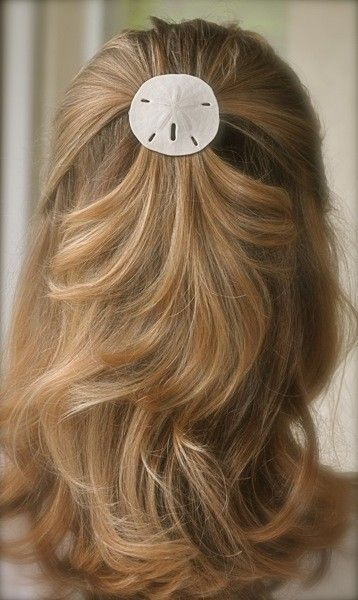 feminine natural hair accessories. seashells. nautical accessories