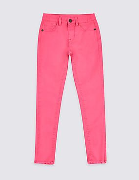a9cafcdead Bright Pink Cotton Rich Super Skinny Jeans (3-16 Years)