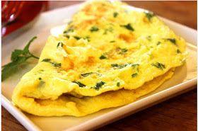 Omelette lyonnaise aux oignons, ciboulette, oseille, sans gluten