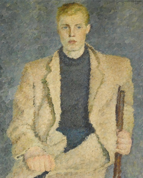 Vladimir Weisberg (Russian, 1924-1985), Portrait of the student A. Yudin, 1959. Oil on canvas, 96.5 x 70.5 cm.
