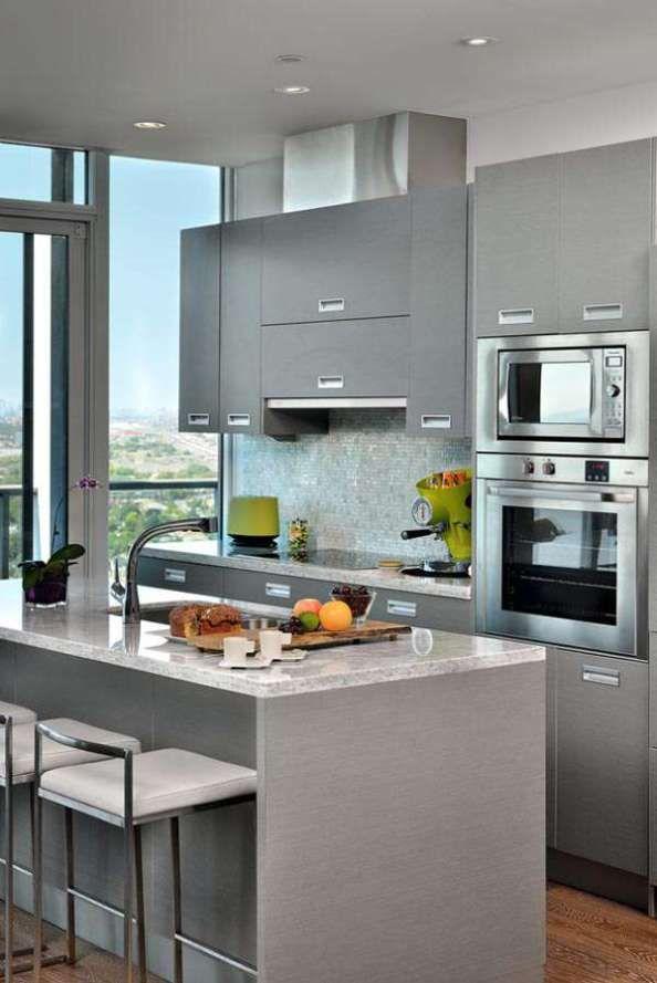43 Cozinhas Pequenas E 8 Dicas De Como Decorar. Small Kitchen DesignsKitchen  IdeasKitchen RenoCondo ... Part 39
