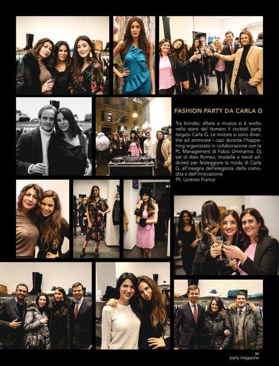 La stampa parla dell'Evento Carla G http://www.plmanagement.eu/press_release/157/fashion-party-da-carla-g.html Grazie a tutta la Redazione di Party Magazine per lo splendido reportage!