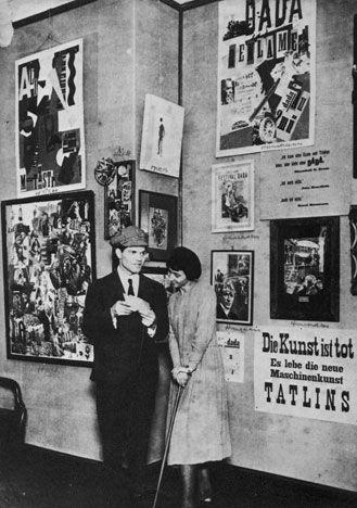 Hannah Höch and Raoul Hausmann at Berlin's First International Dada Fair in 1920.
