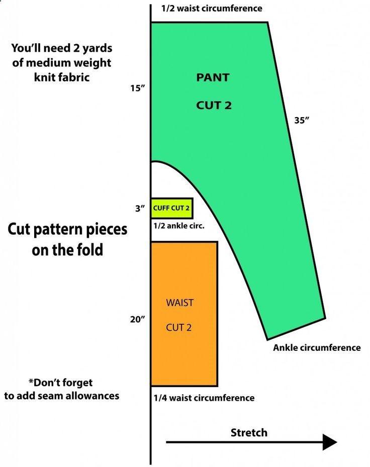 Found sewing patterns for the harem/samurai/boho pant option...