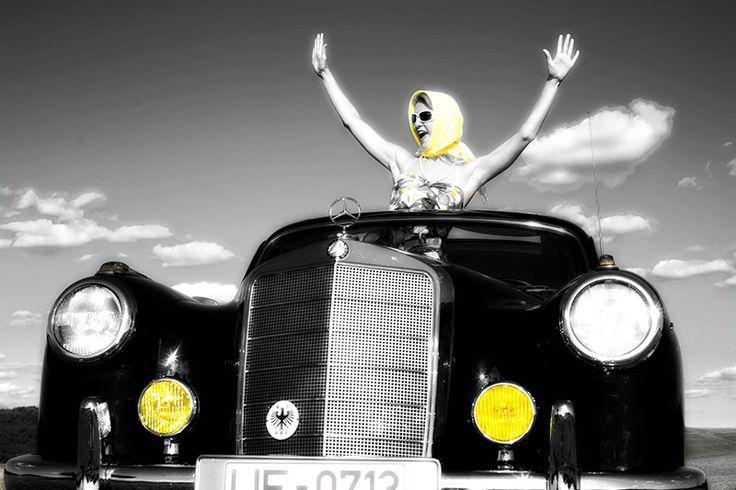 Girls & Cars - yellow