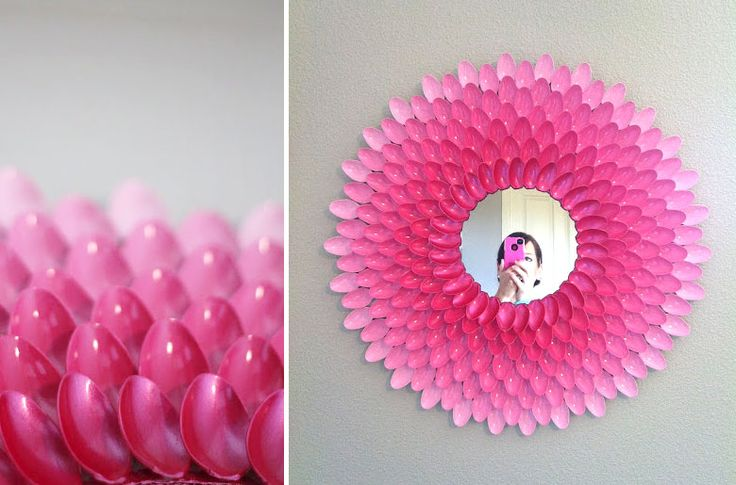 1000 images about reciclajes on pinterest plastic spoons pencil holders and search - Manualidades para decorar el hogar ...