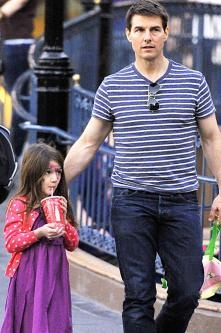 Suri and Tom Cruise