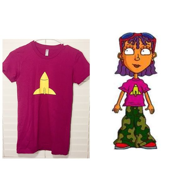 Rocket Power T-shirt In great condition. Runs small. Purchased from zazzle. Makes a great Halloween costume! American Apparel Tops Tees - Short Sleeve