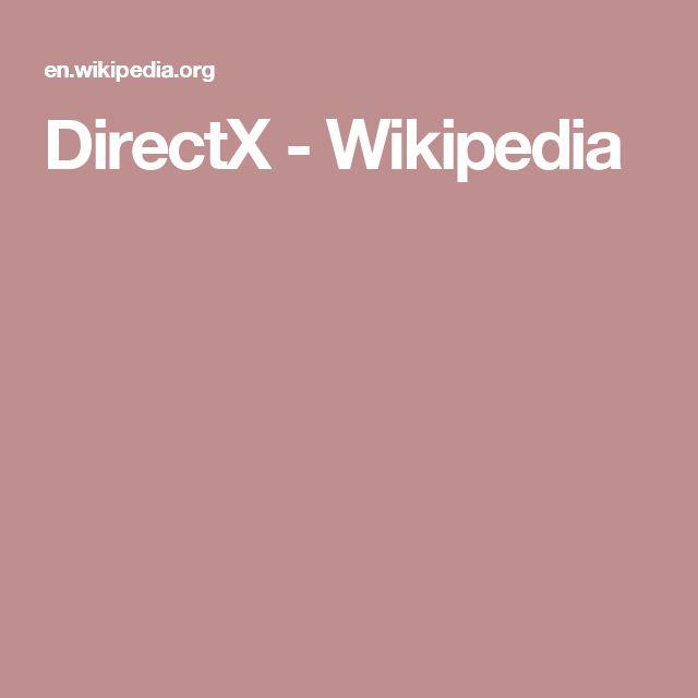 DirectX - Wikipedia