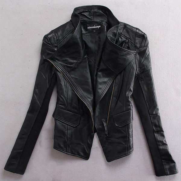 Бредовая кожаная женская куртка