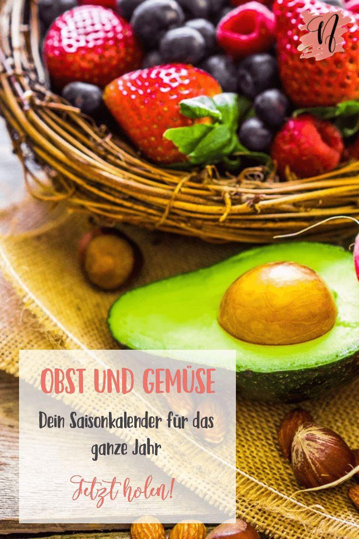 Saisonkalender Obst und Gemüse via @nataschazim